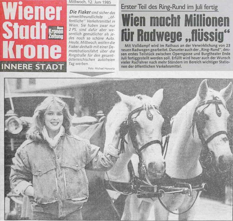Autofreier Tag erster 1985 Fiaker Krone