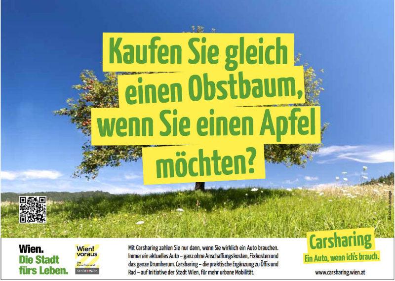 Carsharing Effizente Kampagne Apfel