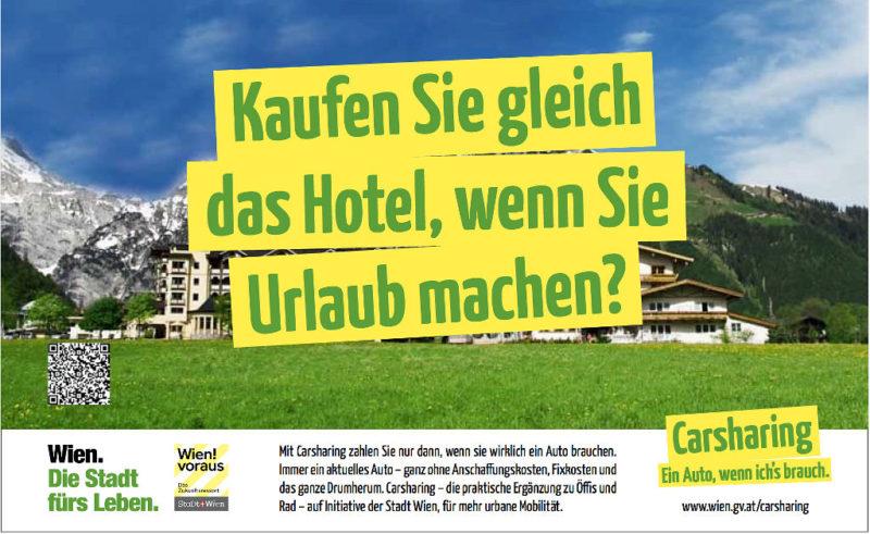 Carsharing 1 Effizente Kampagne Hotel