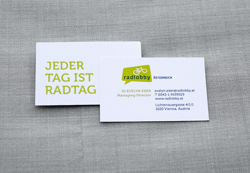 Radlobby Corporate Design Visitkarte 940 x 650 120 White Typo dark